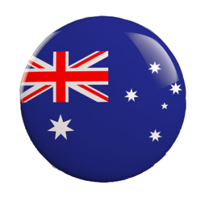 Australia Button Flag